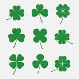 Clover leaves vector set Stock Images