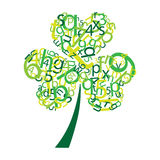 Clover with letters and numbers Royalty Free Stock Photos