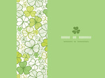 Clover line art horizontal seamless pattern Stock Image