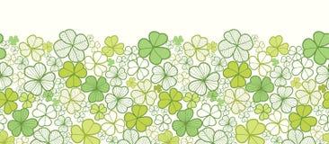 Clover line art horizontal seamless pattern Royalty Free Stock Photo