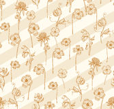 Clover line and diagonal art seamless pattern background Royalty Free Stock Photography