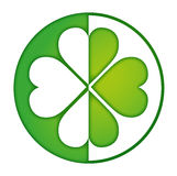 Clover logo green. Clover logo in a bright green Royalty Free Stock Images