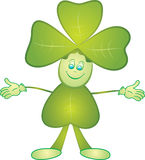 Clover mascot Stock Images
