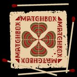 Clover matchbox label Royalty Free Stock Photography