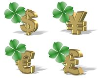 Clover and money Royalty Free Stock Image