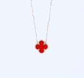Clover necklace Royalty Free Stock Photography