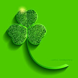 Clover with openwork leaves, 3d effect Royalty Free Stock Photography