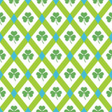 Clover pattern. Stock Photos