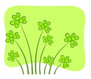 Clover pattern royalty free stock photo