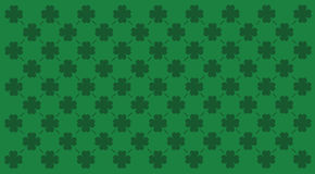 Clover pattern. A green background with shamrock like elements for St. Patrick's Day Stock Photos