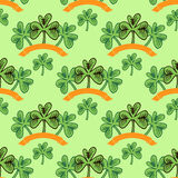 Clover pattern3 Royalty Free Stock Image