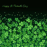 Clover pattern green Royalty Free Stock Images
