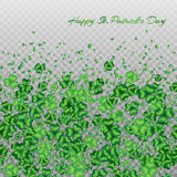 Clover pattern transparent Royalty Free Stock Images