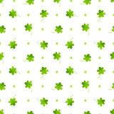 Clover pattern. Vector watercolor seamless Stock Image