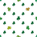 Clover pattern on white. St. Patrick day Royalty Free Stock Photography