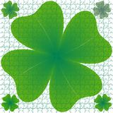 Clover puzzle Royalty Free Stock Image