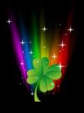 Clover in rainbow Stock Image