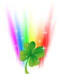 Clover in rainbow Royalty Free Stock Photos