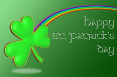A clover with a rainbow Stock Photo