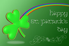 A clover with a rainbow Stock Images