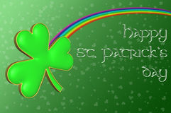 A clover with a rainbow Royalty Free Stock Photography