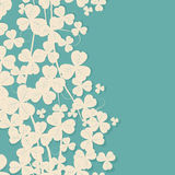 Clover retro card Royalty Free Stock Image