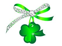 Clover and ribbon Stock Photo