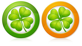 Clover in round Royalty Free Stock Image