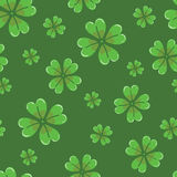 Clover seamless background stock images