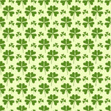 Clover seamless background. Royalty Free Stock Images