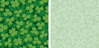 Clover seamless backgrounds Royalty Free Stock Photo
