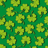 Clover seamless pattern. Background for St. Patrick's Day Royalty Free Stock Image