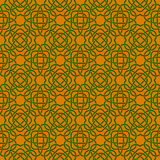 Clover seamless pattern in Celtic Style. St. Patrick`s Day  Royalty Free Stock Image