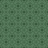 Clover seamless pattern in Celtic Style. St. Patrick`s Day  Stock Photos
