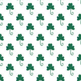 Clover seamless pattern in gouache paint. Fashion background for textile design. Wrapping and packaging paper. Saint. Patricks day backdrop stock illustration