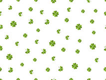Clover seamless pattern. Green leaves on a white background. Vector Royalty Free Stock Photography