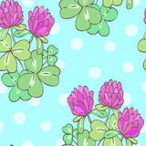 Clover seamless pattern Stock Photography