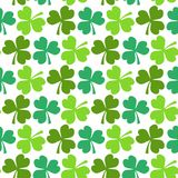 Clover seamless pattern. St. Patricks Day endless repeated backdrop, texture, wallpaper. Luck symbol shamrock backdrop. Vector illustration Vector Illustration