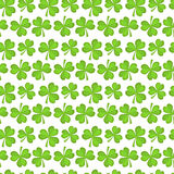 Clover seamless pattern. St. Patricks Day endless repeated backdrop, texture, wallpaper. Luck symbol . Vector Stock Image