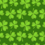 Clover seamless pattern. St. Patricks Day endless repeated backdrop, texture, wallpaper. Royalty Free Stock Images