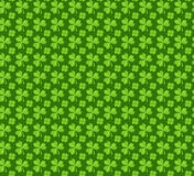 Clover seamless pattern. St. Patricks Day endless repeated backdrop, texture, wallpaper. Luck symbol . Vector Royalty Free Stock Photos