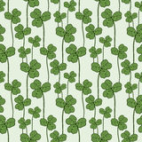 Clover seamless pattern. Vector swatch for fabric textile or packaging design. Stock Images