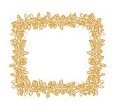 Clover seeds square frame yellow stock illustration