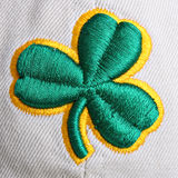 Clover Shamrock on Textile Stock Photos