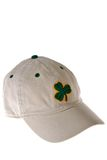 Clover Shamrock on Textile Stock Image