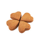 Clover shaped cookie composition Royalty Free Stock Images