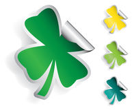 Clover Sticker Royalty Free Stock Images