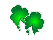 Clover stickers Royalty Free Stock Photo