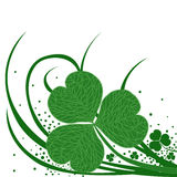 Clover with streaks and swirls Royalty Free Stock Photos
