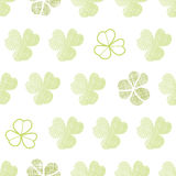 Clover textile textured geometric seamless pattern Stock Photos